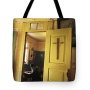 A Clergyman Studies Tote Bag