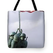 A Close Up Of The Iwo Jima Bronze Tote Bag