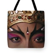 A Close View Of A Face Of A Balinese Tote Bag