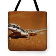 A Close View Of A Military Sand Dragon Tote Bag