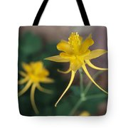 A Close View Of A Yellow Columbine Tote Bag
