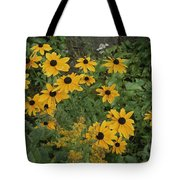 A Close View Of Black-eyed Susans Tote Bag