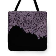 A Cloud Of Bats Fills The Twilight Sky Tote Bag