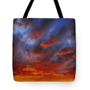 A Cloudy Sunset Tote Bag