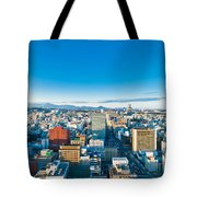 A Cold Sunny Day In Sendai Japan Tote Bag