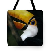 A Colorful Toco Toucans Blue Eye Tote Bag