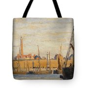 A Continental Harbor Tote Bag by William Lionel Wyllie