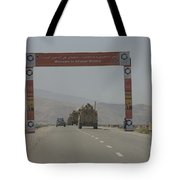 A Convoy Of Cougar Mraps Driving Tote Bag