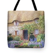 A Cottage Garden In Full Bloom Tote Bag