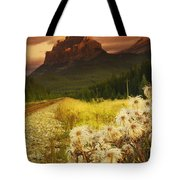 A Country Road With A Mountain In The Tote Bag