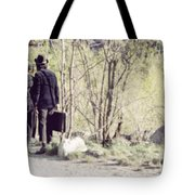 A Couple In The Woods Tote Bag
