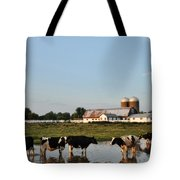A Cow's Day At The Beach Tote Bag