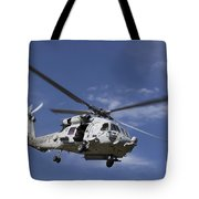 A Crew Chief Looks Out The Side Door Tote Bag by Michael Wood
