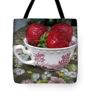 A Cup Of Strawberries Tote Bag