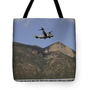 A Cv-22 Osprey Flies Over The 2007 Tote Bag