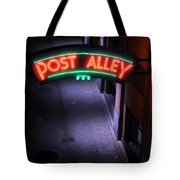 A Dark And Lonely Post Alley - Seattle  Tote Bag