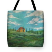 A Day In Tuscany Tote Bag by John Keaton