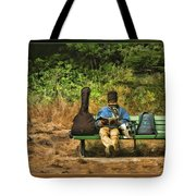 A Day On A Bench Tote Bag