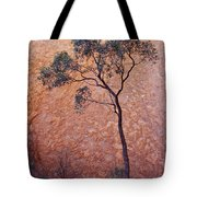 A Desert Bloodwood Tree Against The Red Tote Bag