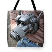 A Digital Camera Is The Chief Tool Of This Photographer Tote Bag