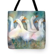 A Disorderly Group Of Geese Tote Bag
