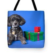 A Dog With Some Gifts Tote Bag