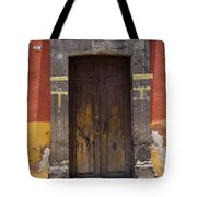 A Door In A Painted Building Tote Bag