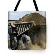 A Dump Truck Carrying Gravel Kicks Tote Bag