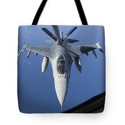 A Dutch F-16am Conducts In-flight Tote Bag
