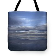 A Fading Sunset Reflects Off The Still Tote Bag