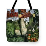 A Farmers Market Selling Vegetables Tote Bag