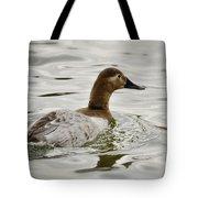 A Female Canvasback Duck  Tote Bag