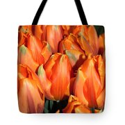 A Field Of Orange Tulips Tote Bag