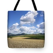 A Field Of Wheat Auvergne. France Tote Bag