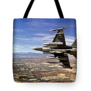 A Fighter Jet Breaks Right On A Final Tote Bag