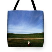 A Fire Hydrant In A Green Field Tote Bag