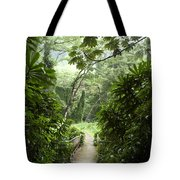 A Flooded Path At Manoa Falls Tote Bag