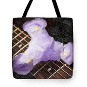 A Flower Music And Romance Tote Bag