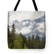 A Forest And The Rocky Mountains Tote Bag