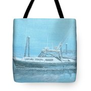 A Fortier Docked In Maine Tote Bag