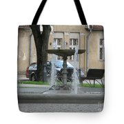 A Fountain In Silute Lithuania Tote Bag
