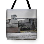 A French Landing Craft Comes Ashore Tote Bag