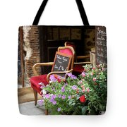 A French Restaurant Greeting Tote Bag