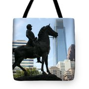A General And His Horse In Philly Tote Bag