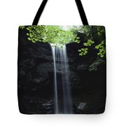 A Gentle Woodland Waterfall With Maple Tote Bag