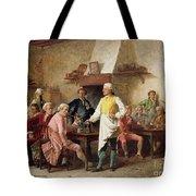 A Gentleman's Debate Tote Bag by Benjamin Eugene Fichel