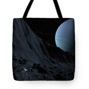 A Gigantic Scarp On The Surface Tote Bag by Ron Miller