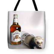 A Glass Of Fursty Ferret Tote Bag