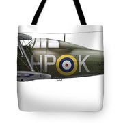 A Gloster Gladiator Mk II Tote Bag by Chris Sandham-Bailey