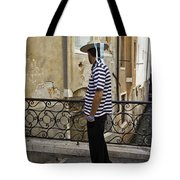 A Gondolier In Venice Tote Bag
